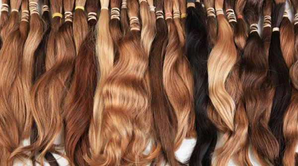 selection of hair extensions arranged side-by-side